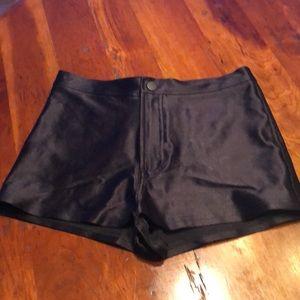 American Apparel Black High Waisted Disco Shorts